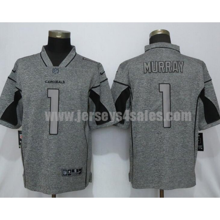 Men's New Nike Arizona Cardinals #1 Kyler Murray 2019 Vapor Untouchable Stitched Gridiron Gray Limited Jersey