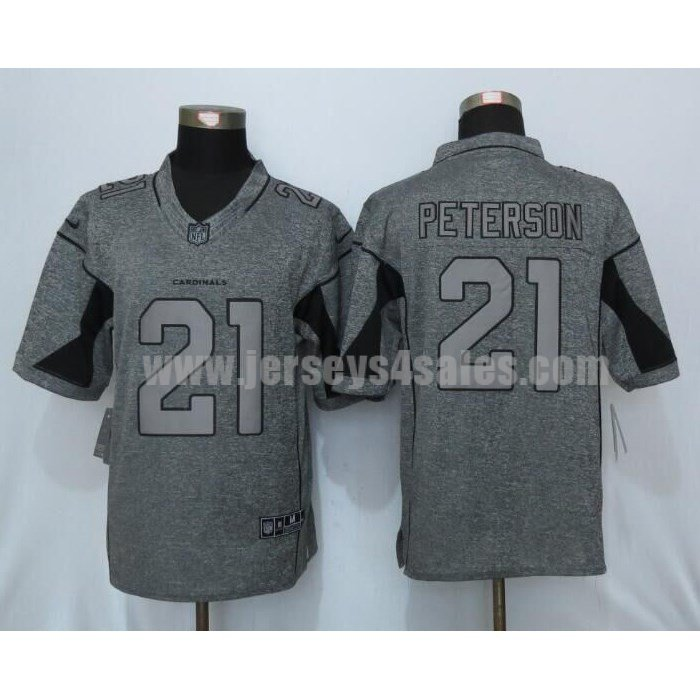 Men's Arizona Cardinals #21 Patrick Peterson Grey Stitched Nike NFL Gridiron Gray Limited Jersey