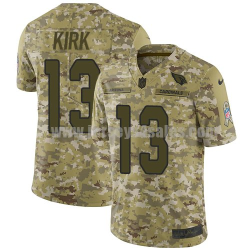Men's Nike Arizona Cardinals #13 Christian Kirk Camo Stitched NFL Limited 2018 Salute to Service Jersey
