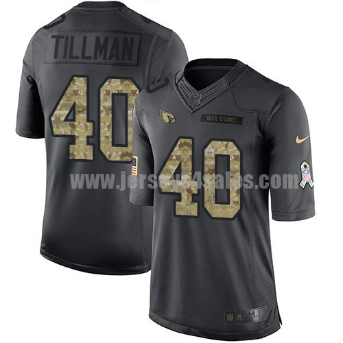 Men's Arizona Cardinals #40 Pat Tillman Anthracite Stitched Nike NFL 2016 Salute To Service Limited Jersey