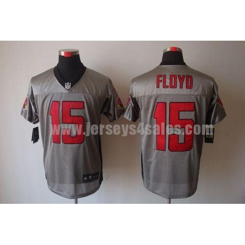 Nike Cardinals #15 Michael Floyd Grey Shadow Men's Stitched NFL Elite Jersey
