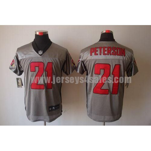 Nike Cardinals #21 Patrick Peterson Grey Shadow Men's Stitched NFL Elite Jersey