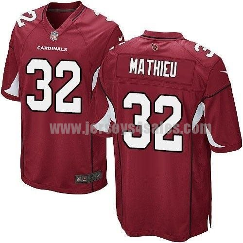 Nike Cardinals #32 Tyrann Mathieu Red Team Color Men's Stitched NFL Game Jersey