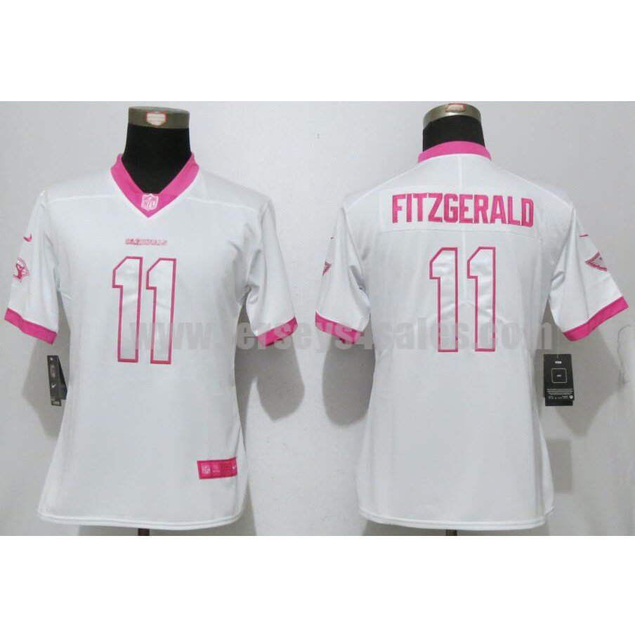 Women's Arizona Cardinals #11 Larry Fitzgerald White Stitched Nike NFL Color Rush Legend Elite Jersesy