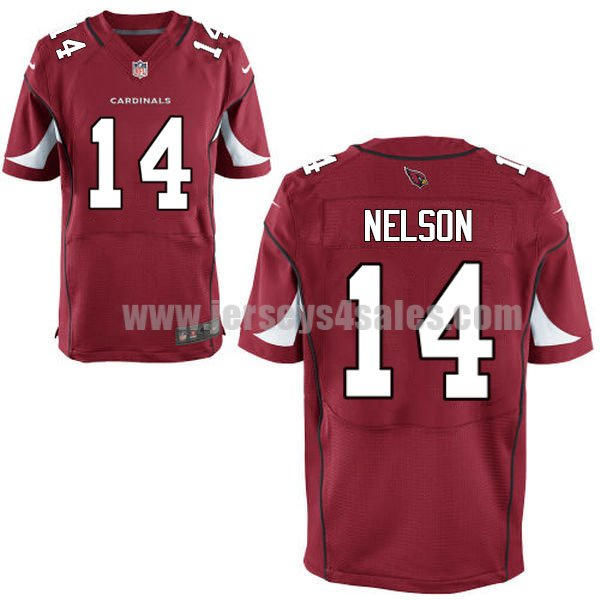 Men's Arizona Cardinals #14 J.J. Nelson Red Stitched Nike NFL Home Elite Jersey