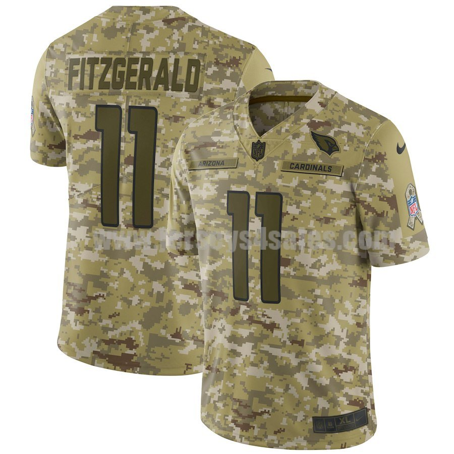 Men's Arizona Cardinals #11 Larry Fitzgerald Nike Camo Salute To Service Limited Jersey