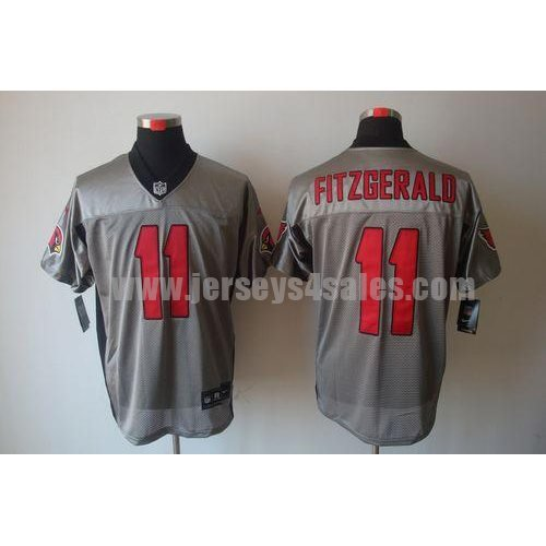Nike Cardinals #11 Larry Fitzgerald Grey Shadow Men's Stitched NFL Elite Jersey