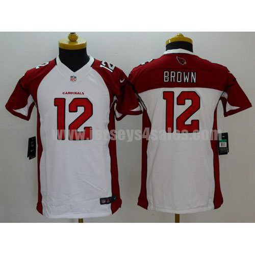 Youth Arizona Cardinals #12 John Brown White Stitched Nike NFL Road Elite Jersey