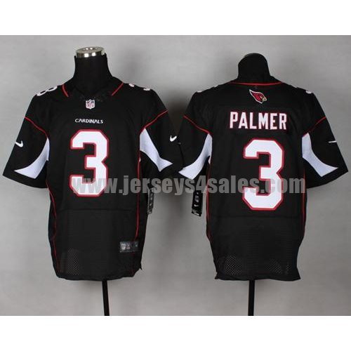 Nike Cardinals #3 Carson Palmer Black Alternate Men's Stitched NFL Elite Jersey