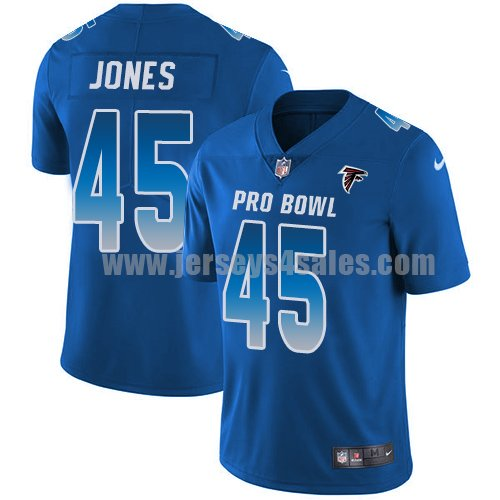 Men's Nike Atlanta Falcons #45 Deion Jones Royal Stitched NFL Limited NFC 2018 Pro Bowl Jersey