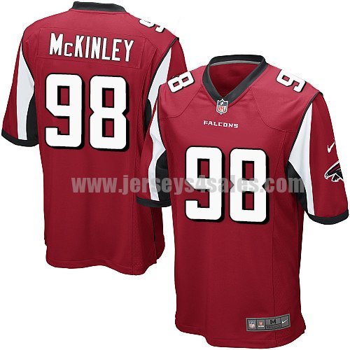 Youth Nike Atlanta Falcons #98 Takkarist McKinley Red Team Color Stitched NFL Elite Jersey