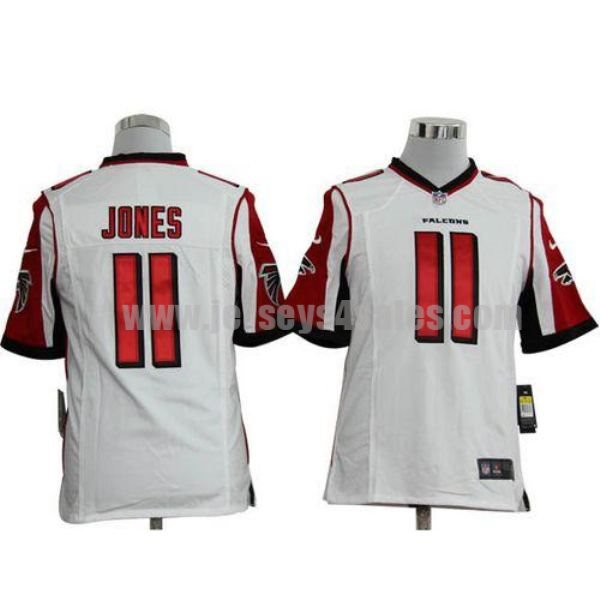 Nike Falcons #11 Julio Jones White Men's Stitched NFL Game Jersey
