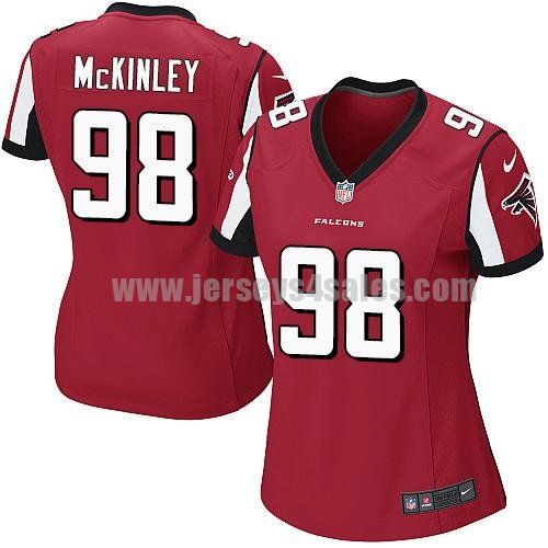Women's Nike Atlanta Falcons #98 Takkarist McKinley Red Team Color Stitched NFL Elite Jersey