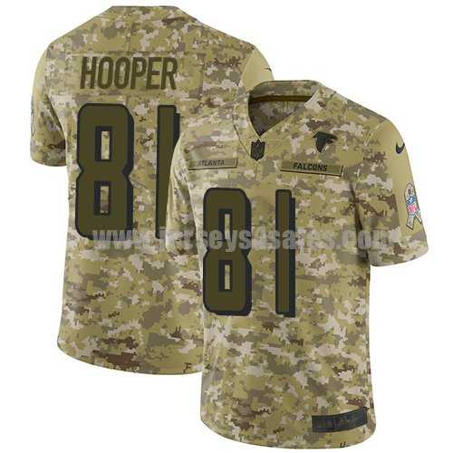 Men's Nike Atlanta Falcons #81 Austin Hooper Camo Stitched NFL Limited 2018 Salute To Service Jersey