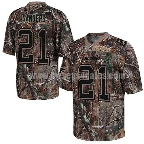 Men's Nike Atlanta Falcons #21 Deion Sanders Camo Stitched NFL Realtree Elite Jersey