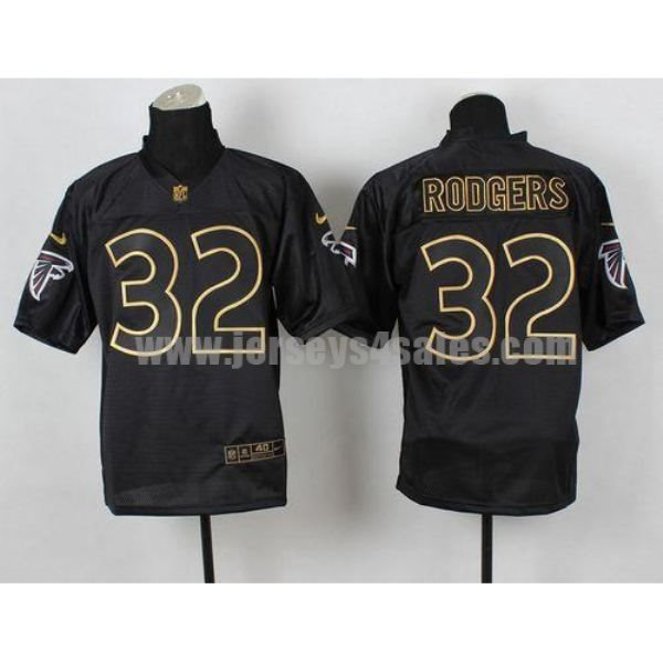 Nike Falcons #32 Jacquizz Rodgers Black Gold No. Fashion Men's Stitched NFL Elite Jersey