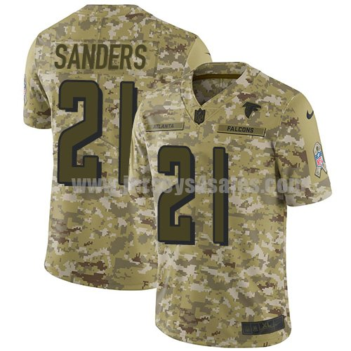 Men's Nike Atlanta Falcons #21 Deion Sanders Camo Stitched NFL Limited 2018 Salute To Service Jersey