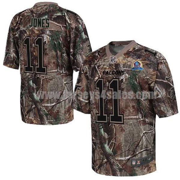Nike Falcons #11 Julio Jones Camo With Hall of Fame 50th Patch Men's Stitched NFL Realtree Elite Jersey