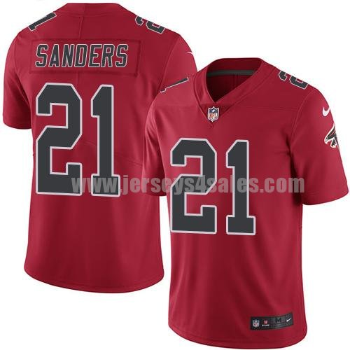 Youth Nike Atlanta Falcons #21 Deion Sanders Red Stitched NFL Limited Rush Jersey