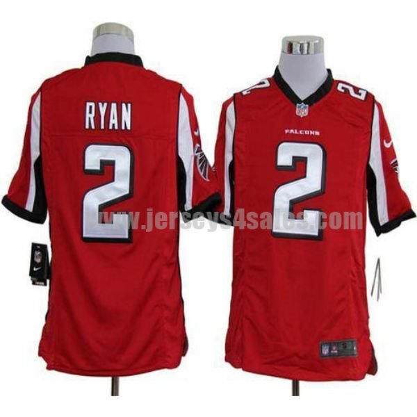 Nike Falcons #2 Matt Ryan Red Team Color Men's Stitched NFL Game Jersey