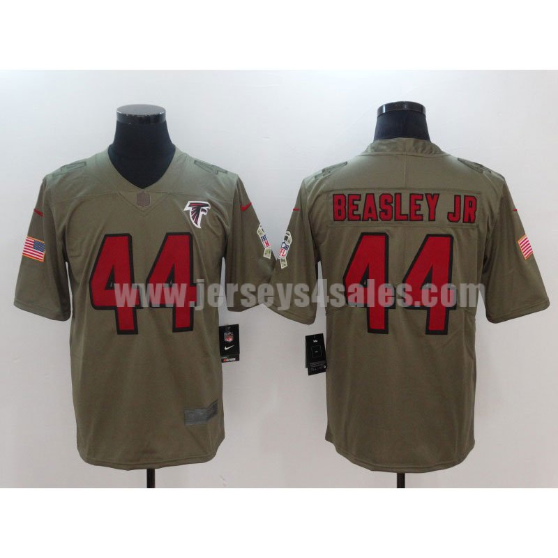 Men's Atlanta Falcons #44 Vic Beasley Jr Olive Nike NFL 2017 Salute To Service Limited Jersey