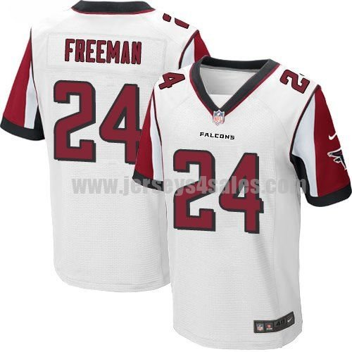 Men's Atlanta Falcons #24 Devonta Freeman White Stitched Nike NFL Road Elite Jersey