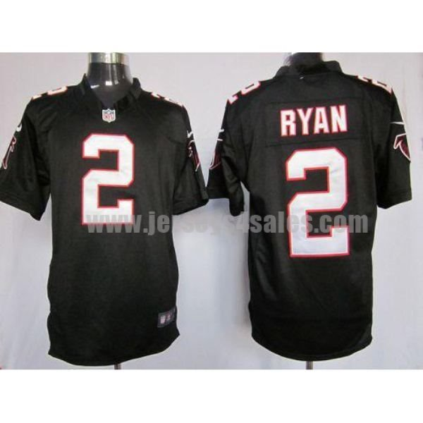 Nike Falcons #2 Matt Ryan Black Alternate Men's Stitched NFL Game Jersey