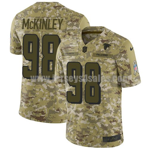 Youth Nike Atlanta Falcons #98 Takkarist McKinley Camo Stitched NFL Limited 2018 Salute to Service Jersey