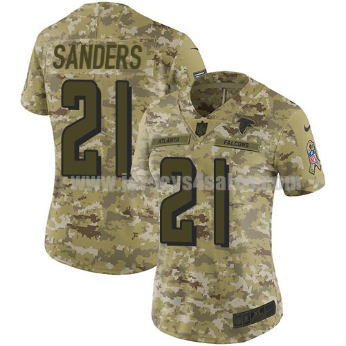 Women's Nike Atlanta Falcons #21 Deion Sanders Camo Stitched NFL Limited 2018 Salute to Service Jersey