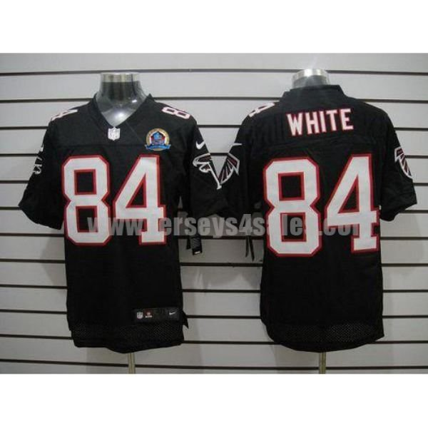 Nike Falcons #84 Roddy White Black Alternate With Hall of Fame 50th Patch Men's Stitched NFL Elite Jersey