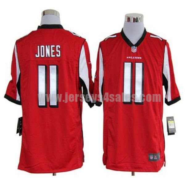 Nike Falcons #11 Julio Jones Red Team Color Men's Stitched NFL Game Jersey