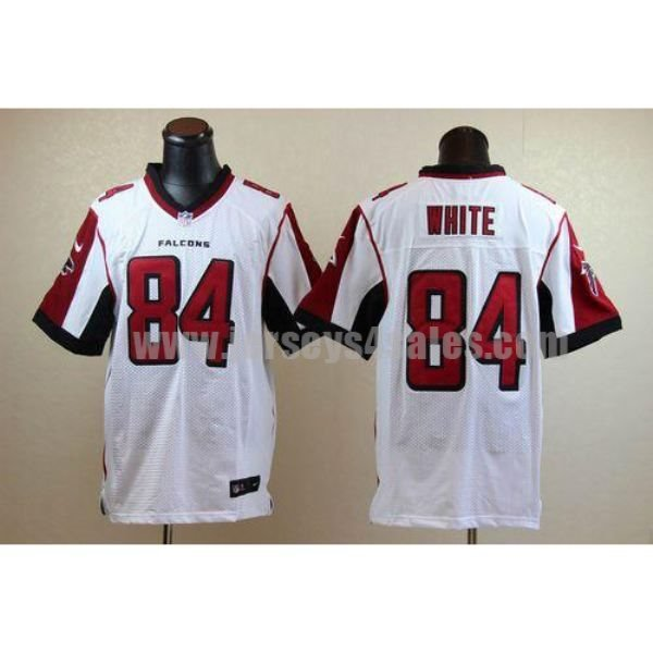 Nike Falcons #84 Roddy White White Men's Stitched NFL Elite Jersey