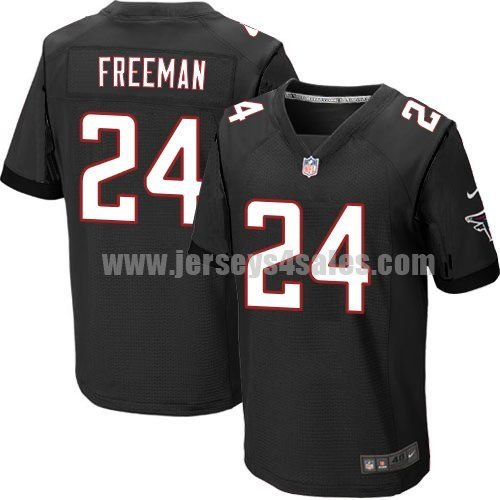 Men's Atlanta Falcons #24 Devonta Freeman Black Stitched Nike NFL Alternate Elite Jersey