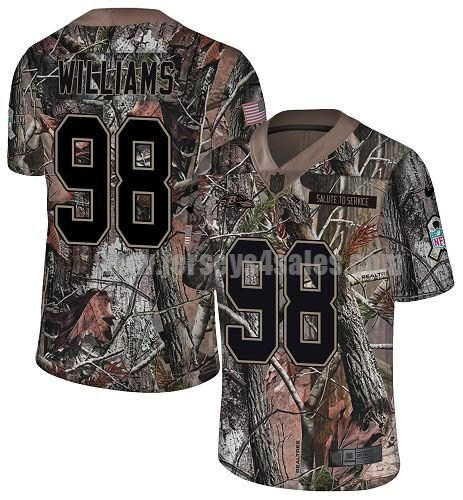Men's Nike Baltimore Ravens #98 Brandon Williams Camo Stitched NFL Limited Rush Realtree Jersey