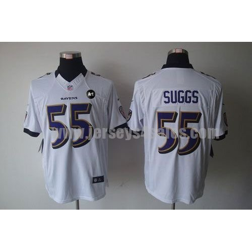 Nike Ravens #55 Terrell Suggs White With Art Patch Men's Stitched NFL Limited Jersey