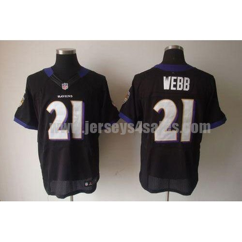 Nike Ravens #21 Lardarius Webb Black Alternate Men's Stitched NFL Elite Jersey