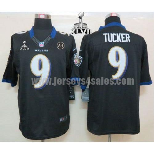 Nike Ravens #9 Justin Tucker Black Alternate Super Bowl XLVII Men's Stitched NFL Limited Jersey