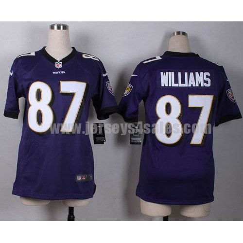 Women's Nike Ravens #87 Maxx Williams Purple Team Color Stitched NFL New Elite Jersey