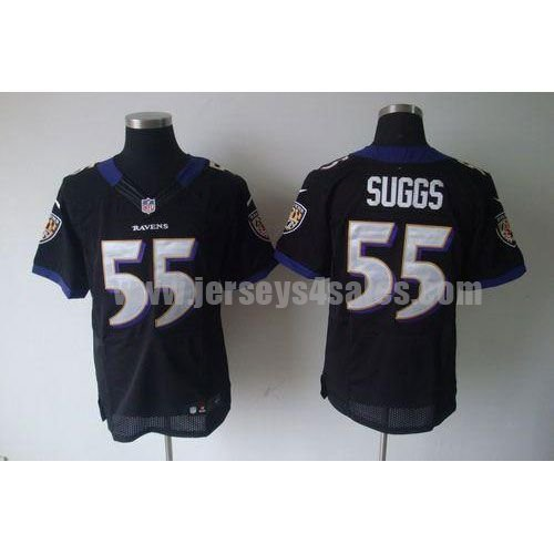 Nike Ravens #55 Terrell Suggs Black Alternate Men's Stitched NFL Elite Jersey