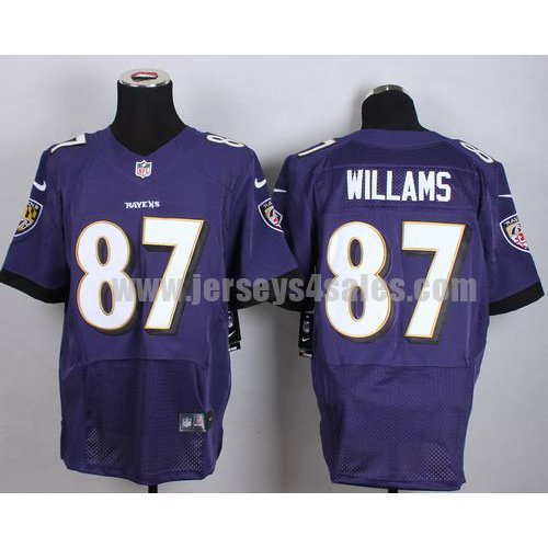 Nike Ravens #87 Maxx Williams Purple Team Color Men's Stitched NFL New Elite Jersey