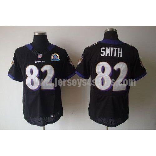 Nike Ravens #82 Torrey Smith Black Alternate With Hall of Fame 50th Patch Men's Stitched NFL Elite Jersey
