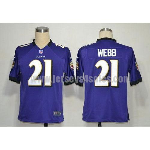 Nike Ravens #21 Lardarius Webb Purple Team Color Men's Stitched NFL Game Jersey
