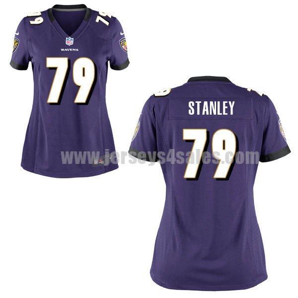 Women's Baltimore Ravens #79 Ronnie Stanley Purple Stitched Nike NFL Home Elite Jersey