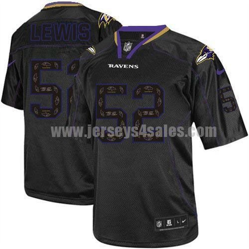 Nike Ravens #52 Ray Lewis New Lights Out Black Men's Stitched NFL Elite Jersey