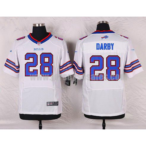 Men's Buffalo Bills #28 Ronald Darby White Stitched Nike NFL Road Elite Jersey