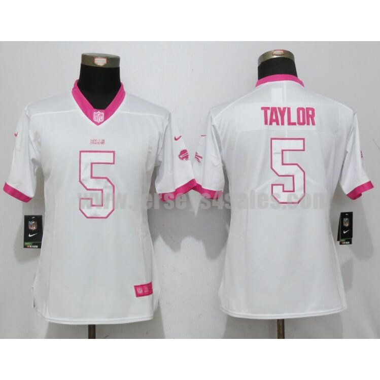 Women's Buffalo Bills #5 Tyrod Taylor White Stitched Nike NFL Color Rush Legend Elite Jersey