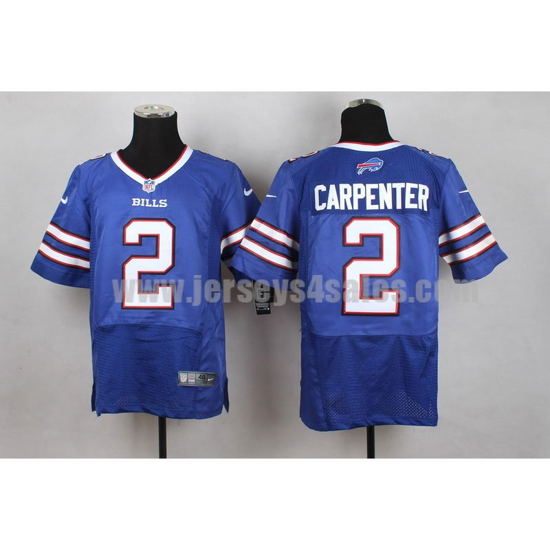 Men's Buffalo Bills #2 Dan Carpenter Blue Team Color Nike Stitched NFL Elite Jersey