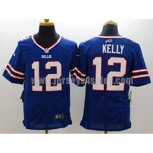 Nike Bills #12 Jim Kelly Royal Blue Team Color Men's Stitched NFL New Elite Jersey