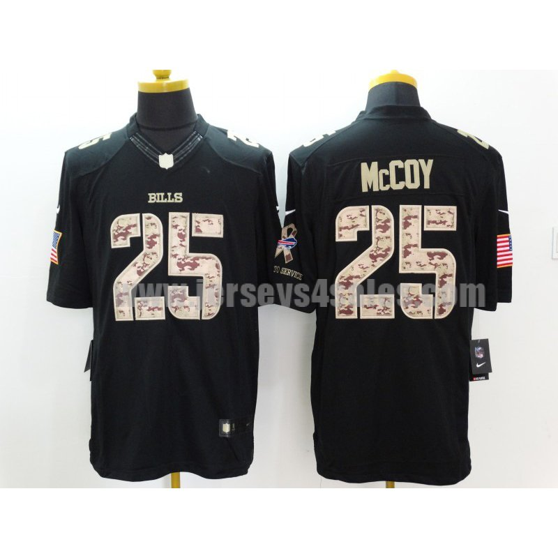 Men's Buffalo Bills #25 LeSean McCoy Black Stitched Nike NFL Limited Salute to Service Jersey