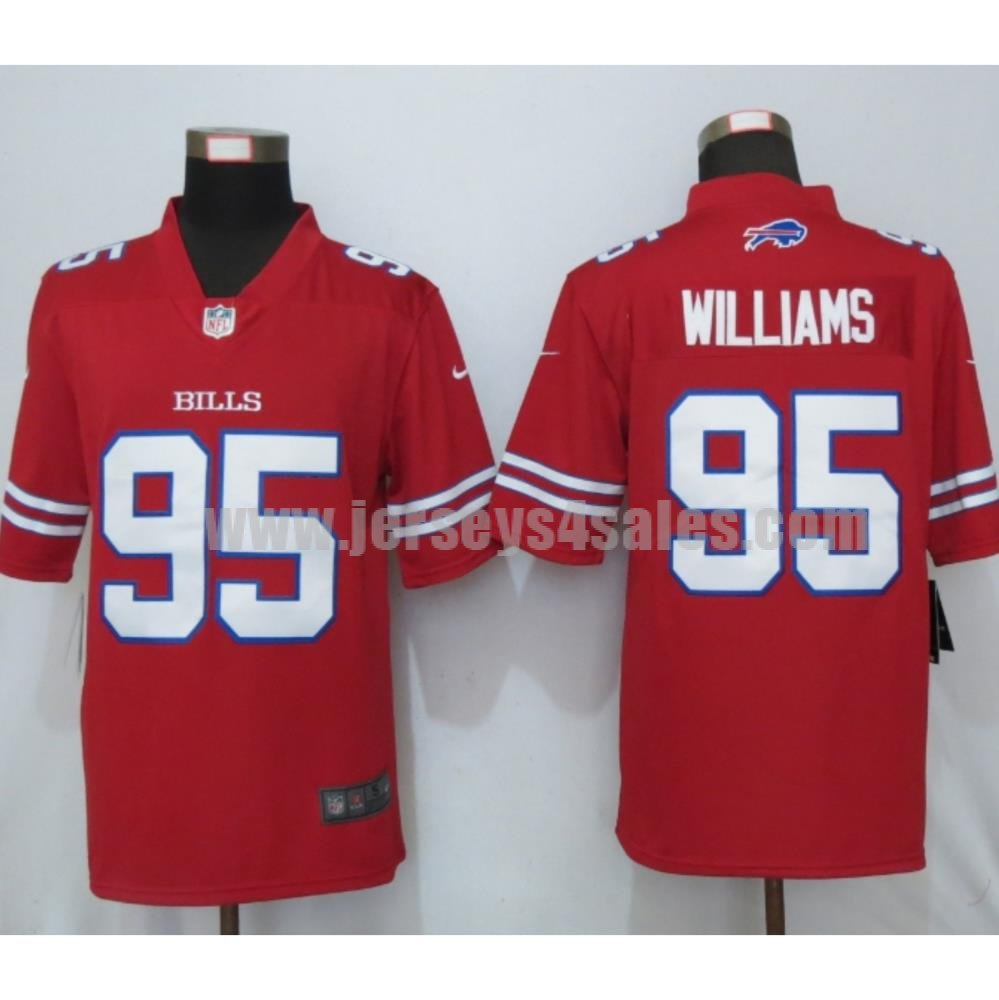 Men's Nike Buffalo Bills #95 Kyle Williams Red Color Rush Limited Jersey